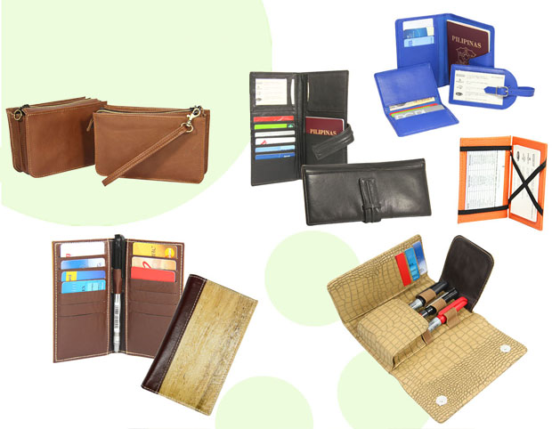 corporate giveaways: card and passport holders