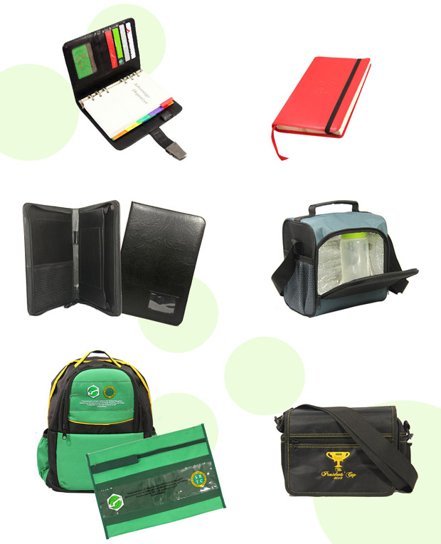 corporate giveaways : home and office companions, lunch boxes, planners, binders, diaries