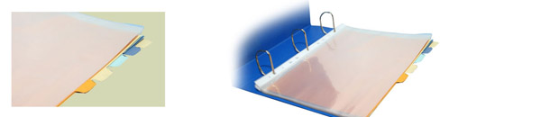 clear plastic sheets, dividers - binder accessories Philippines